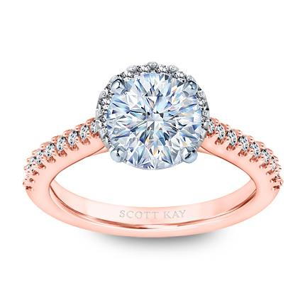 829517a020cd21 Scott Kay Diamond Ring Setting 3/8 ct tw Round 14K Rose Gold - Jared The  Galleria Of Jewelry
