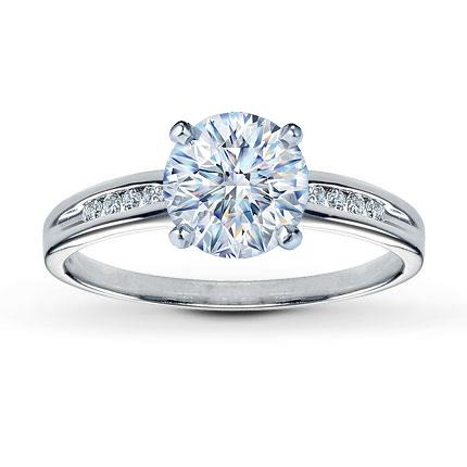 Diamond Ring Setting 115 ct tw RoundCut 14K White Gold Jared The