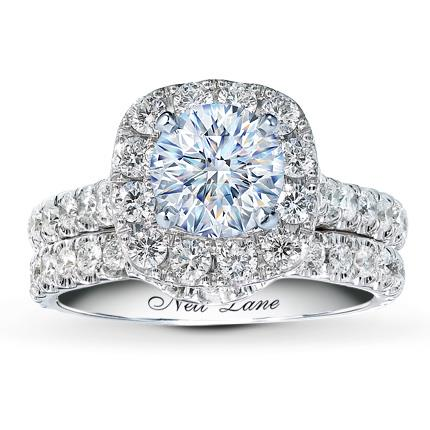 646b2a0b2ea9f1 Neil Lane Wedding Setting 1-1/2 ct tw Diamonds 14K White Gold - Jared The  Galleria Of Jewelry