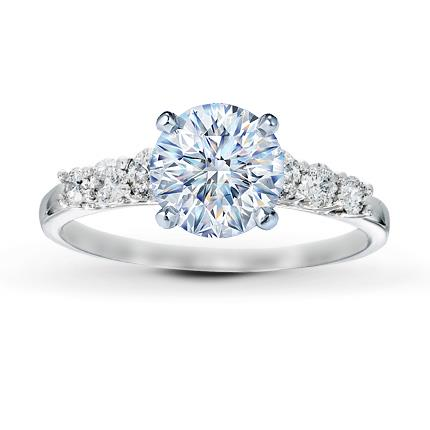 Diamond Ring Setting 38 ct tw Roundcut Platinum Jared The
