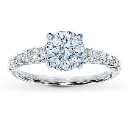 Diamond Ring Setting 3 8 ct tw Round cut 14K White Gold Jared
