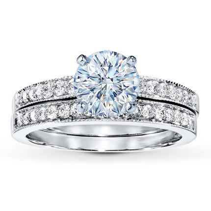Attirant Diamond Bridal Setting 1/3 Ct Tw Round Cut 14K White Gold
