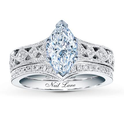 Neil lane bridal setting 38 ct tw diamonds 14k white gold jared hover to zoom junglespirit Choice Image