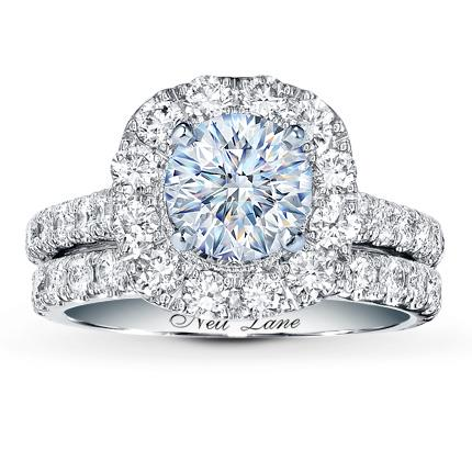 Neil Lane Bridal Setting 2 Ct Tw Diamonds 14K White Gold