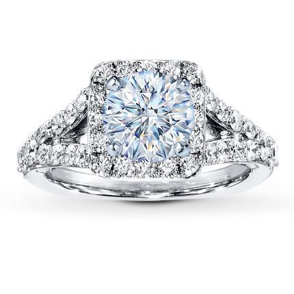Diamond Ring Setting 34 ct tw Roundcut 18K White Gold Jared