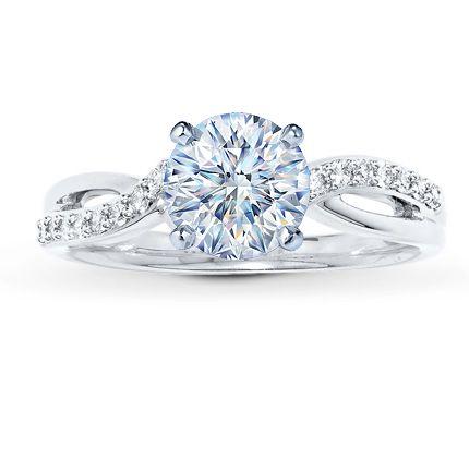 Diamond Ring Setting 16 ct tw Roundcut 14K White Gold Jared