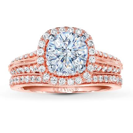 Le Vian Bridal Setting 1 ct tw Diamonds 14K Strawberry Gold Jared