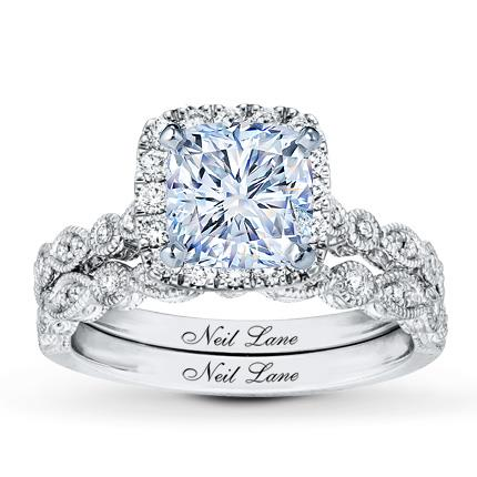 Neil lane bridal setting 12 ct tw diamonds 14k white gold jared hover to zoom junglespirit Choice Image