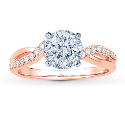 985e26661 Diamond Engagement Ring Setting 1/6 ct tw 14K Rose Gold - Jared The  Galleria Of Jewelry
