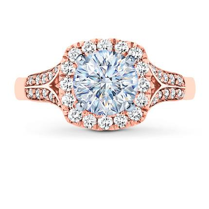 Diamond Engagement Ring Setting 12 carat tw 14K Rose Gold Jared