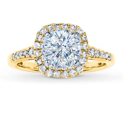 Diamond Ring Setting 12 ct tw Roundcut 14K Yellow Gold Jared The