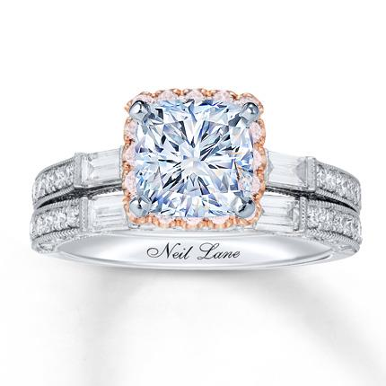 b0c716a1b Neil Lane Bridal Setting 1 ct tw Pink/White Diamonds 14K Gold - Jared The  Galleria Of Jewelry