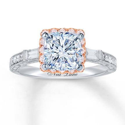 46d68bfcc Neil Lane Diamond Ring Setting 5/8 ct tw Pink/White 14K Gold - Jared The  Galleria Of Jewelry