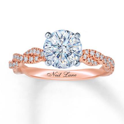508ee3f40f9d4 Neil Lane Ring Setting 3/8 ct tw Diamonds 14K Rose Gold - Jared The ...