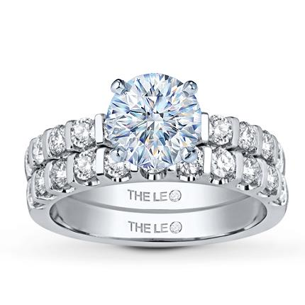 Leo Bridal Setting 1 ct tw Diamonds 14K White Gold Jared The