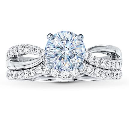 Leo Bridal Setting 12 ct tw Diamonds 14K White Gold Jared The