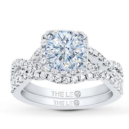 23eb3ab09 Leo Diamond Bridal Setting 3/4 ct tw Round-cut 14K White Gold - Jared The  Galleria Of Jewelry